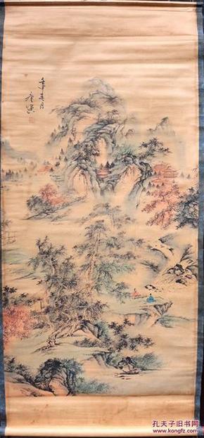 唐寅人物山水画图片
