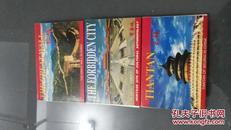长城,紫禁城,天坛,明信片3套各十张,(长城只有9张)未用动无邮资--合售