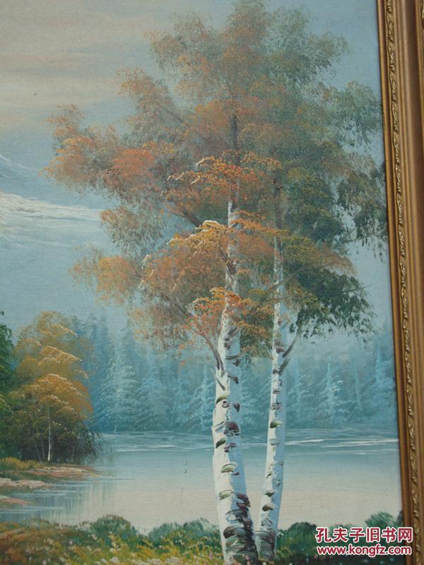 《风景油画》真实感很强的画