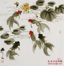 吴作人 ,中国美术家协会会员、 花鸟,《自由自在...》 ,尺寸:68厘米×68厘米...........(2元买不到)...........