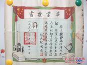 1952年【辽东省】抚顺市 高中 【美女 佳人】毕业证 纸质极佳 细刻精印 堪称证书中的精品 详见描述