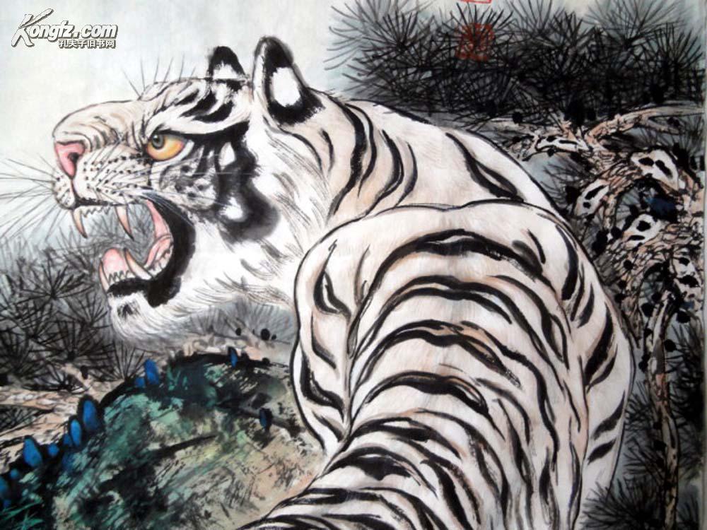 关于老虎的画作