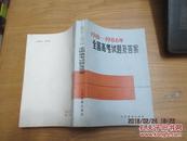 1981~1986年全國高考試題及答案