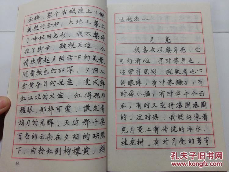 钢笔字帖 硬笔书法 司马东 司马彦 学生作文精彩语段 写景 图片