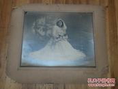 1149:民国国泰照相馆 美女婚纱照片一张,有衬垫