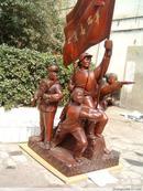 文革红藏重器-----大红酸枝木----【工农商学兵大型群雕】收藏中国文化、还原真实历史------全国独此一件------虒人珍藏