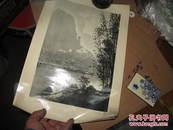 1961年吴寅伯摄黄山玉屏峯  陆文骏摄粤北晨曦印1500一版一印像照片一样的印刷仅见