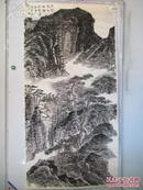海军政治部创作室专业书画家 秘书长  赵成建 国画作品一幅 67*134厘米