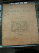 1902年《美国地质地图集》外文原版大开本