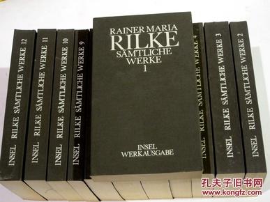 布面软精装德国二十世纪大诗人《里尔克全集》12册(全) RILKE: SÄMTLICHE WERKE IN 12 BÄNDEN