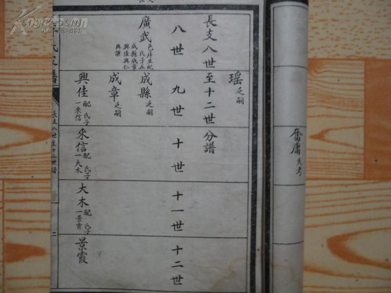 李氏族谱,李氏家谱图片