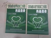 安徽省基本医疗保险 和 工伤保险药品目录(2005年版)