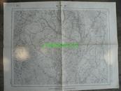 民国地图35【1947年】湖北省随县京山县古城畈地形图~~有标记