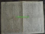 民国地图38【1948年】湖北省钟祥县长寿店地形图~~有标记