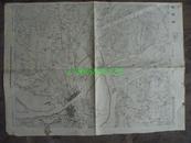 民国地图44【1945年】湖北省襄阳县地形图