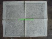 民国地图45【1945年】湖北省郧西县郧县堰河地形图