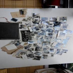 50-60年代老照片110张带真皮老像册