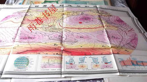 世界七月气压和风(中学地理教学参考挂图)图片