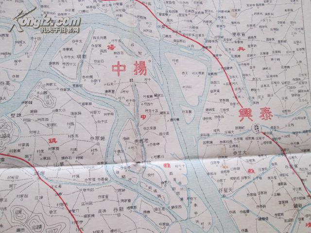 江苏镇江彩版地图(附泰兴