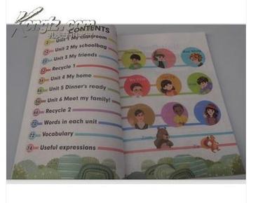 版小学4四年级上册英语书pep课本人民教育出版社教材教科书人教版图片