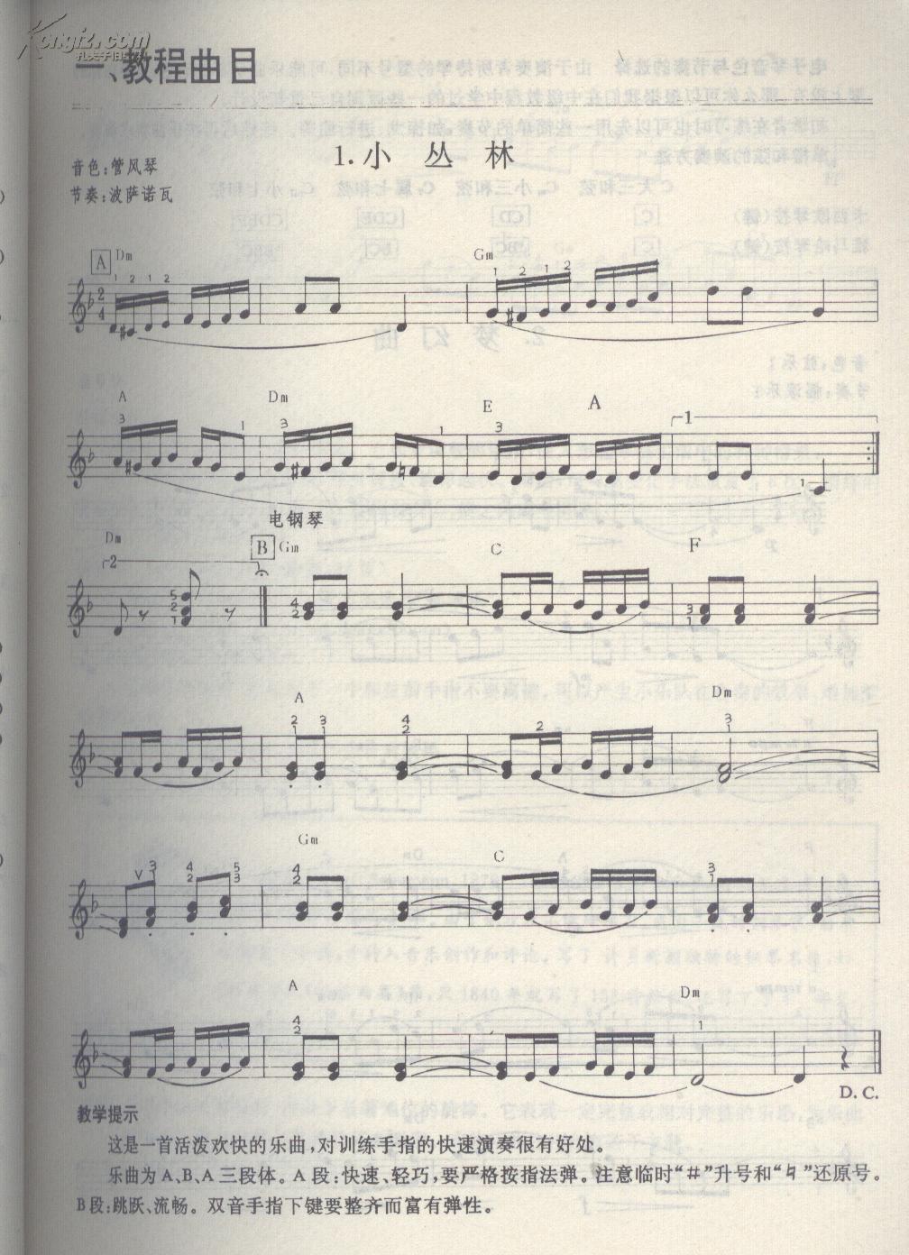 简单儿童电子琴乐谱