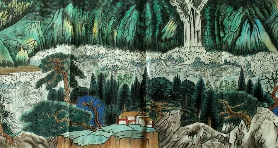 薛亮(江苏省国画院副院长,当代著名画家)长幅山水画, 喜欢的朋友可以