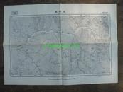 民国地图60【1948年】湖北省郧西县陕西省洵阳县安康县白河县地形图