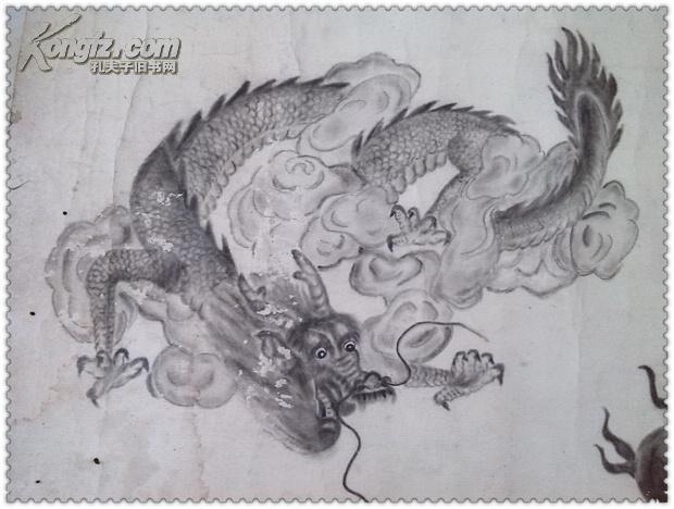 铅笔画龙素描-手绘龙 铅笔画图片