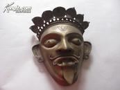 60-70年代手工外国国王青铜面具重3斤