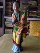 早期精美彩色泥塑:古代美女之五(尺寸较大,编号92118)