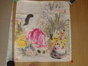 """许汉树-画(风吹细人香) -汕头画院画师--有""""猴王""""之誉宽69*78cm"""