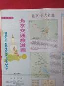 北京交通旅游图1990年7月一版一印