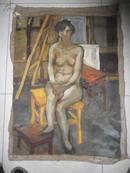 中央美院油画系硕士研究生河北廊坊著名油画家田茂林先生 裸体美少女 油画一幅