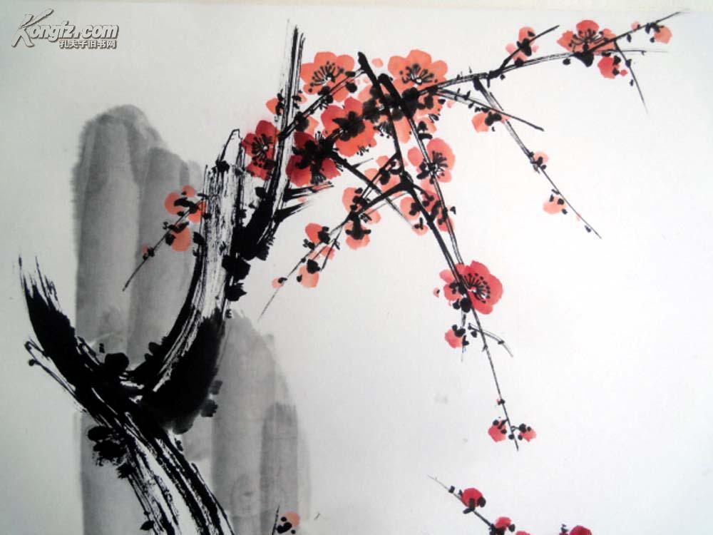 安徽著名老画家【童乃寿】四尺斗方-------梅花图片