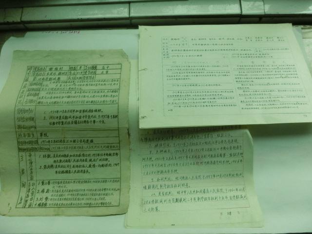 河南近代名人 谢梅村 手写简历一组图片