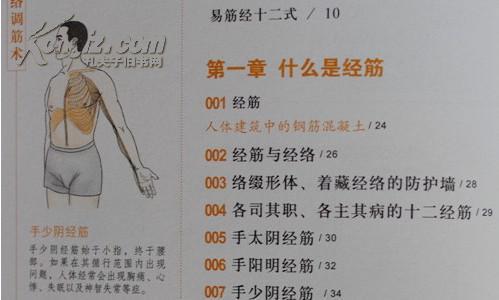 包邮 图解十二经络调筋术(健康大学堂) 正版 书籍 图文本 经络穴位