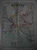 1939年《欧洲战局地图》53x39厘米