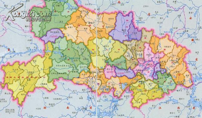 【图】湖北省地图(1:800000最新版)