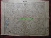 民国地图34【1939年抗日战争珍贵史料】湖北省钟祥县地形图~~有标记