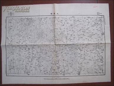 民国地图:长轩岭(湖北省黄安县
