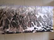 著名山水畫家秦嶺的代表作《昆侖雪》(約8.32平尺),保真(字畫可當面交割)