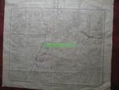 民国地图83【1947年】湖北省江汉道嘉鱼县蒲圻县地形图