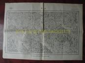 民国地图61【1948年】湖北省江汉道陆县随县襄阳道京山县平埧地形图