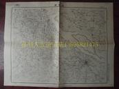 民国地图69【1947年】湖北省宜城县南漳县襄阳县地形图