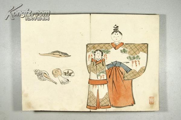 【图】精美早期日本手绘画册