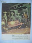 五十年代宣传单张画页:沈阳线材厂工人集体创造的反证、交叉、立式盘圆(中英俄文对照说明)