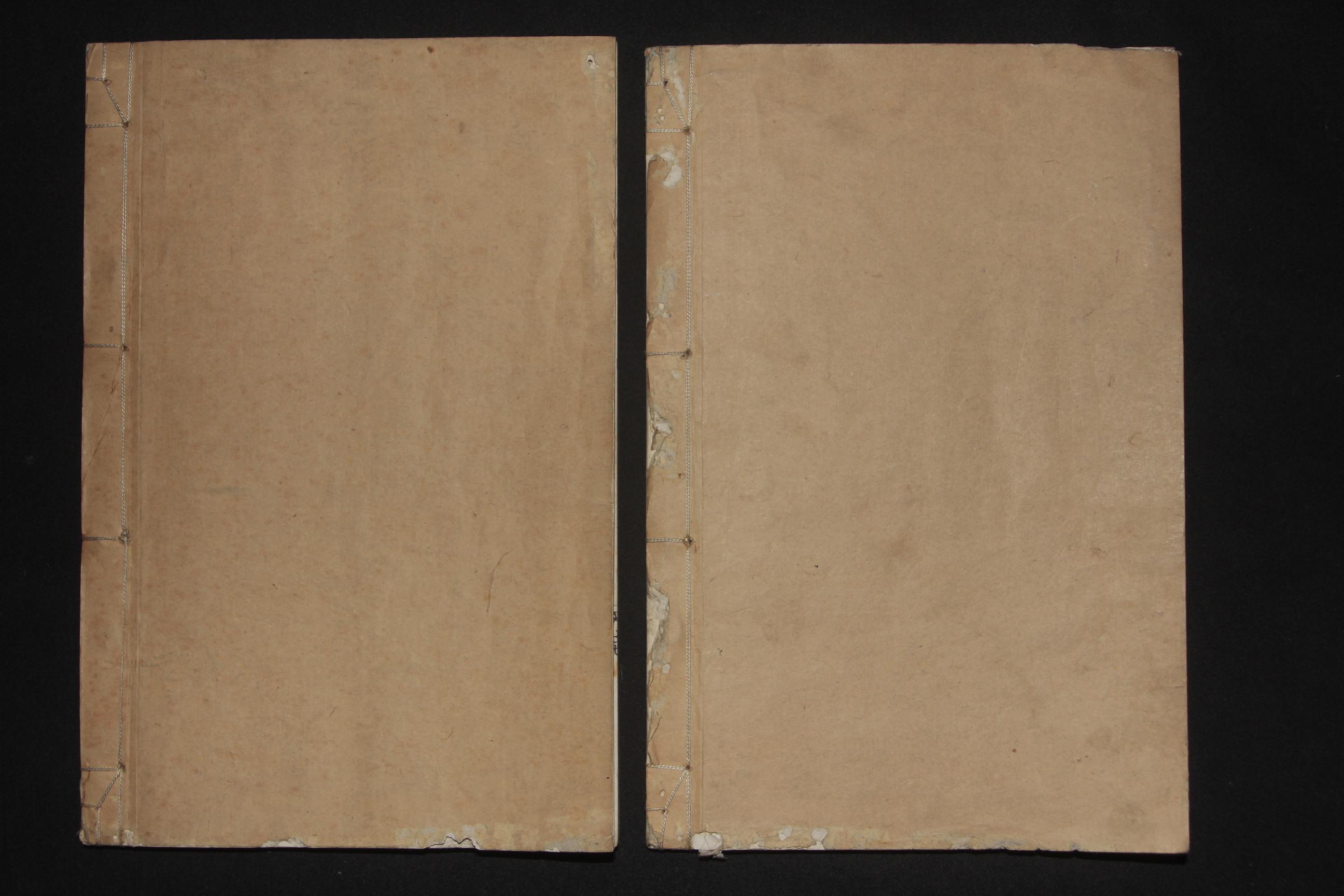 纫斋画胜(韧斋画胜)天地二卷二册一函全 白纸钤印木版画谱 光绪丙子牌