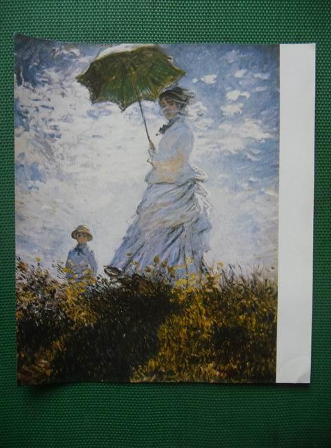 《世界名画欣赏》-散步,撑伞的女人图片