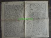 民国地图41【1948年】湖北省襄阳县宜城县欧家庙地形图