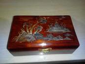精美木盒【木纹清晰,图案精美;红色】
